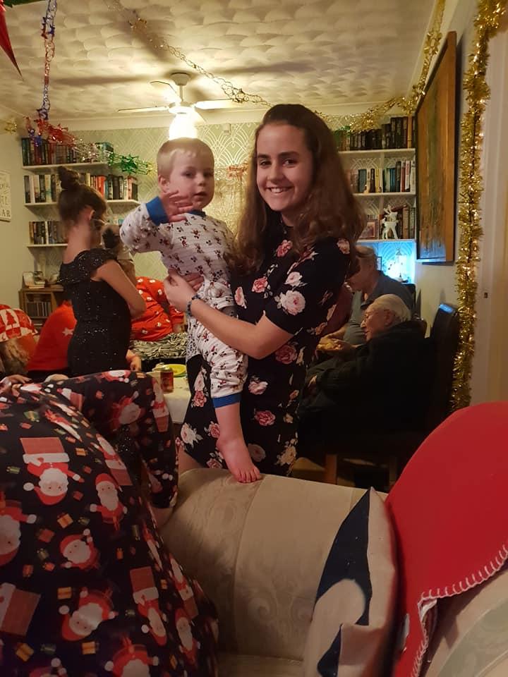 Christmas Eve photos 2018 - KayCee and Keiron