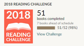 Goodreads reading challenge 2018 51 books read
