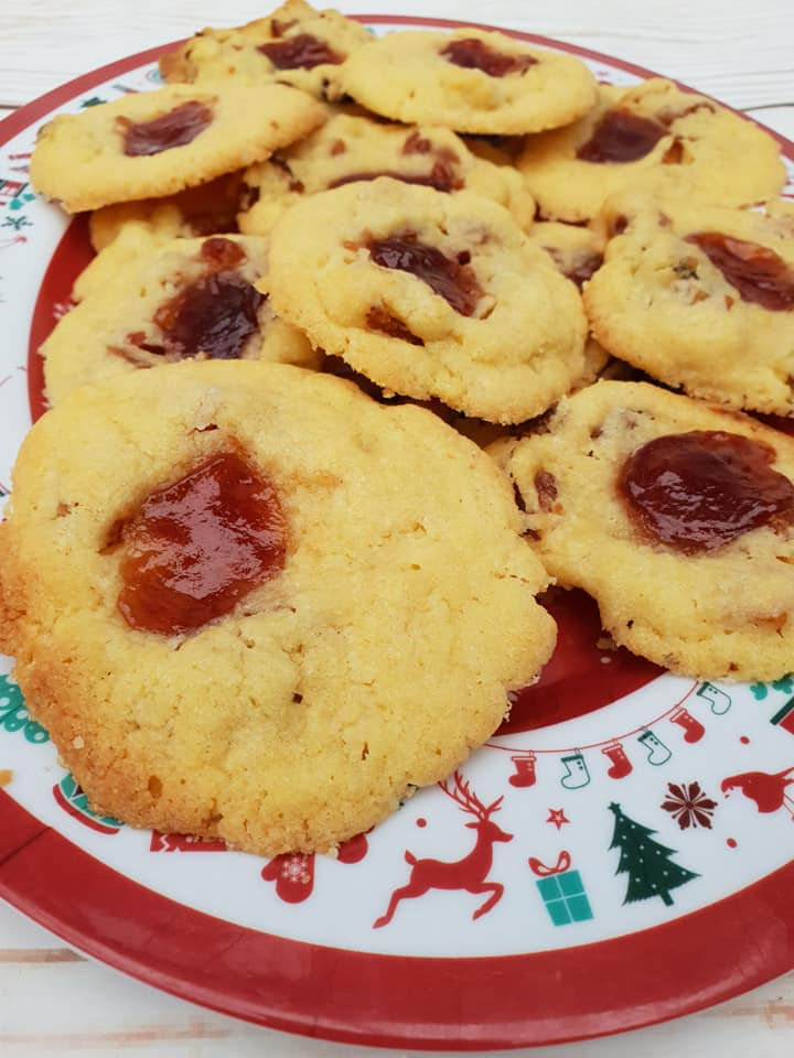 peach, pear and plum cookies