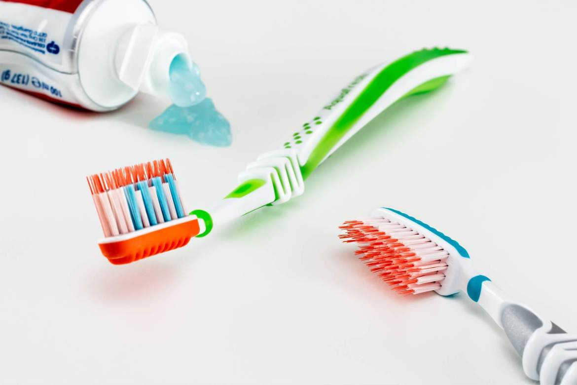 dental health - toothbrushes and toothpaste