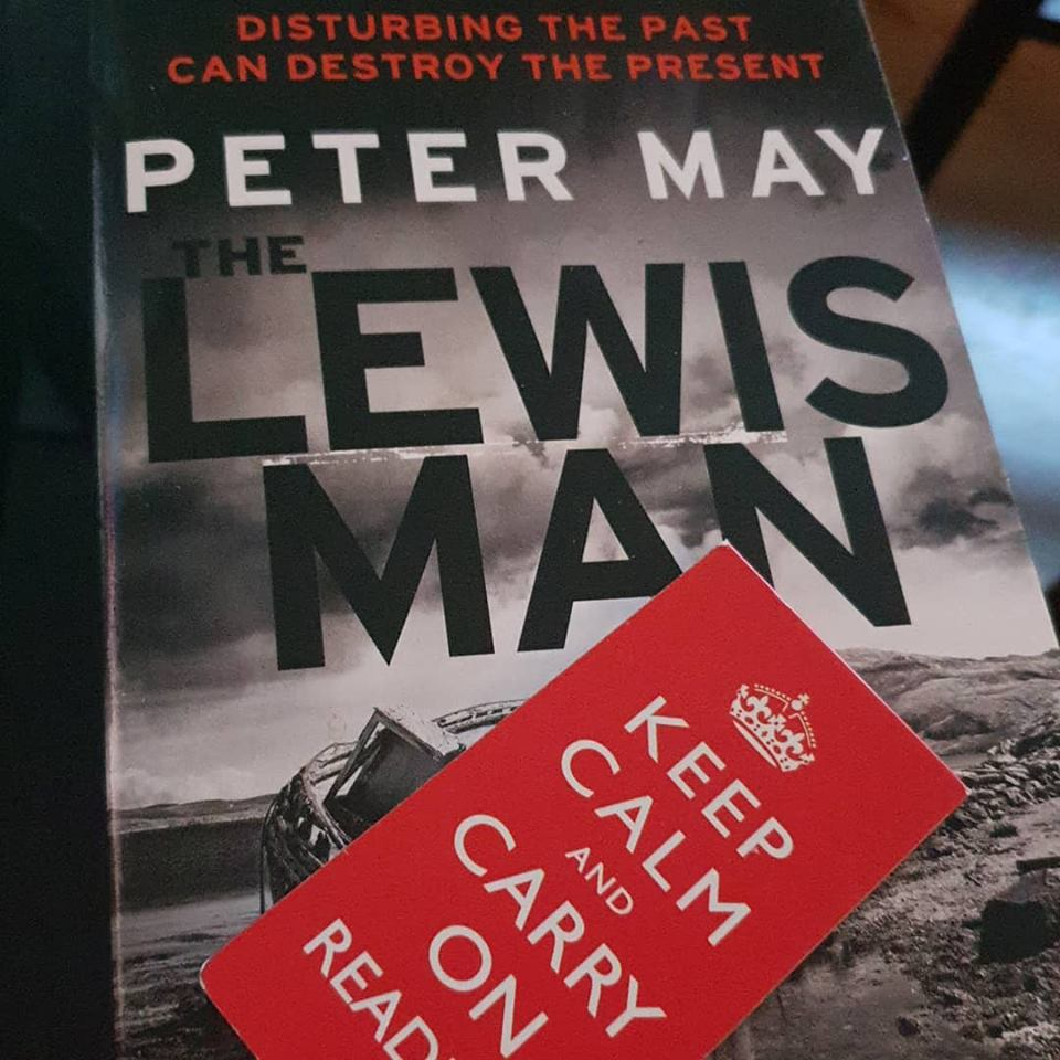 February 2019 1 day 12 pics - Peter May book The Lewis Man