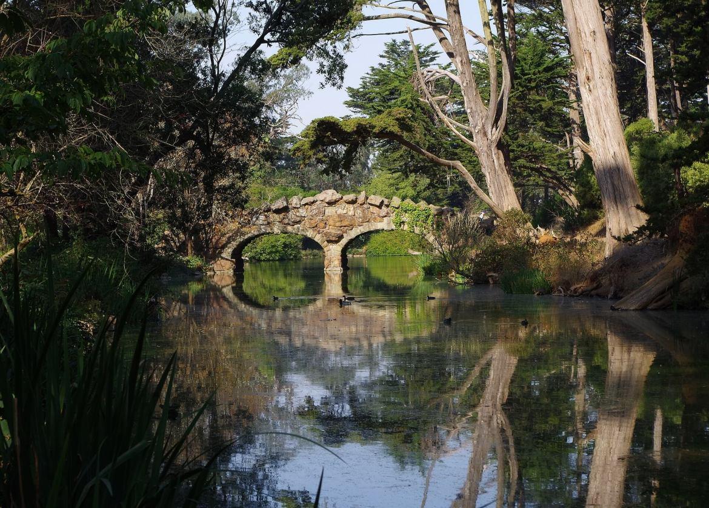 bridge over a river - hydro power