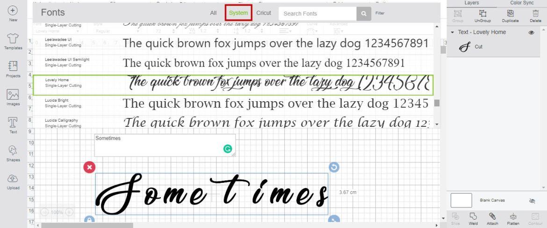 Design Space choose font