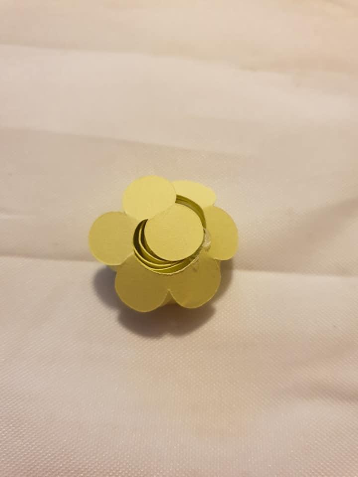 glued paper rose