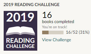Goodreads 2019 reading challenge 16 books read