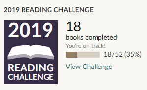Goodreads 2019 reading challenge 18 books read