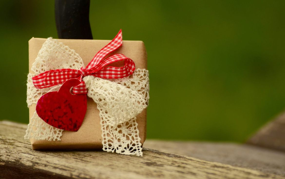 gift wrapped in ribbon