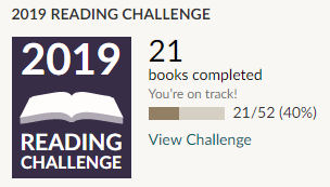 Goodreads 2019 reading challenge 21 books read