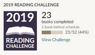 Goodreads 2019 reading challenge 23 books read