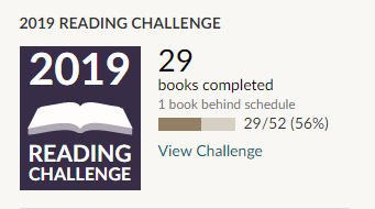 Goodreads 2019 reading challenge 29 books read