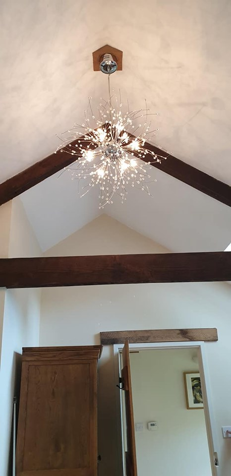 High ceiling with lovely lights