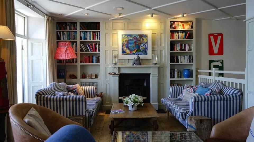 Living room with engineered wood flooring