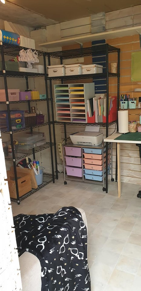 New studio - storage shelves