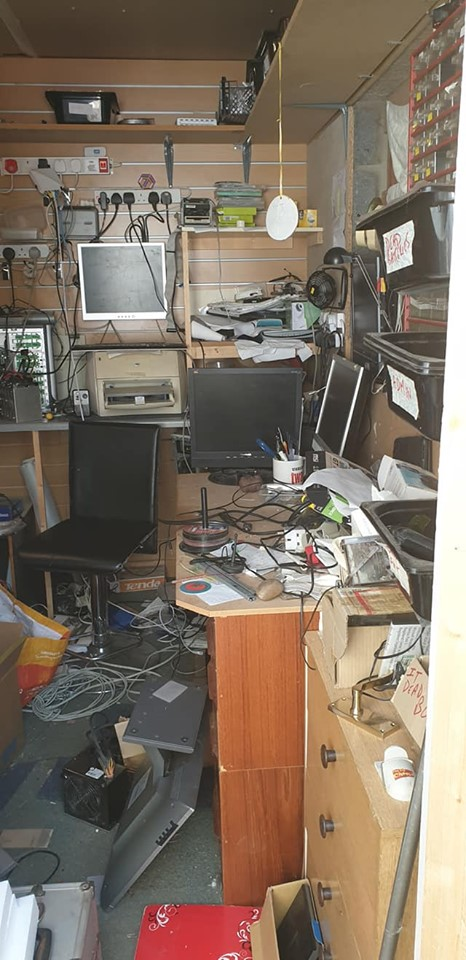 Ant's office before I claimed it as my own!