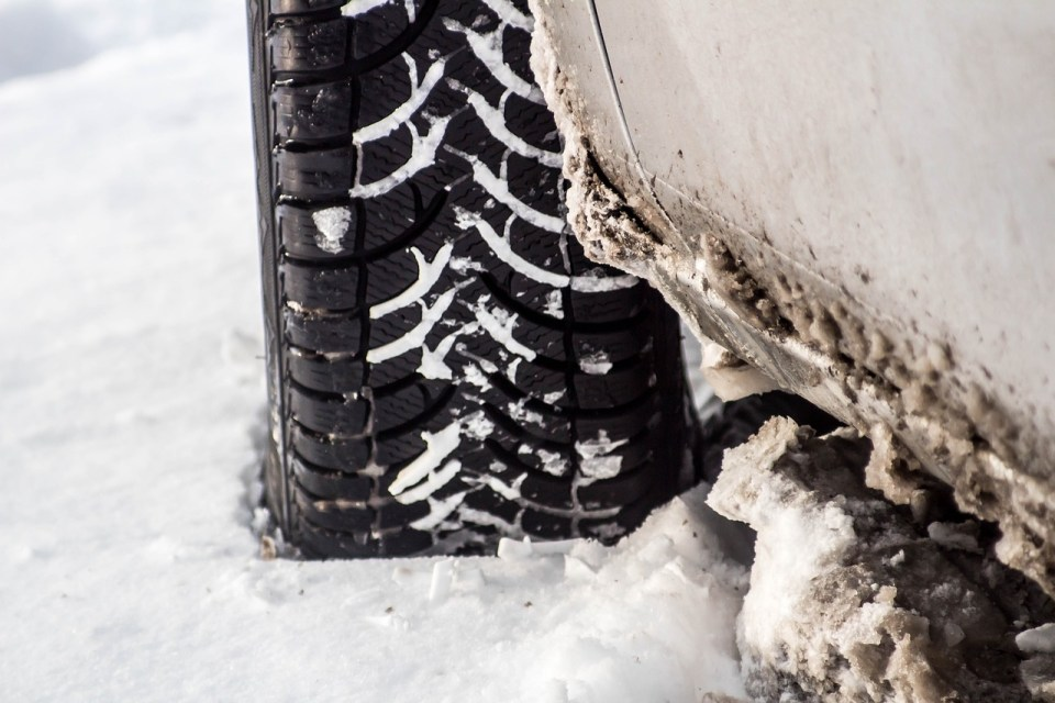 a car tyre with good tread - this helps prevent accidents due to poor tyre condition