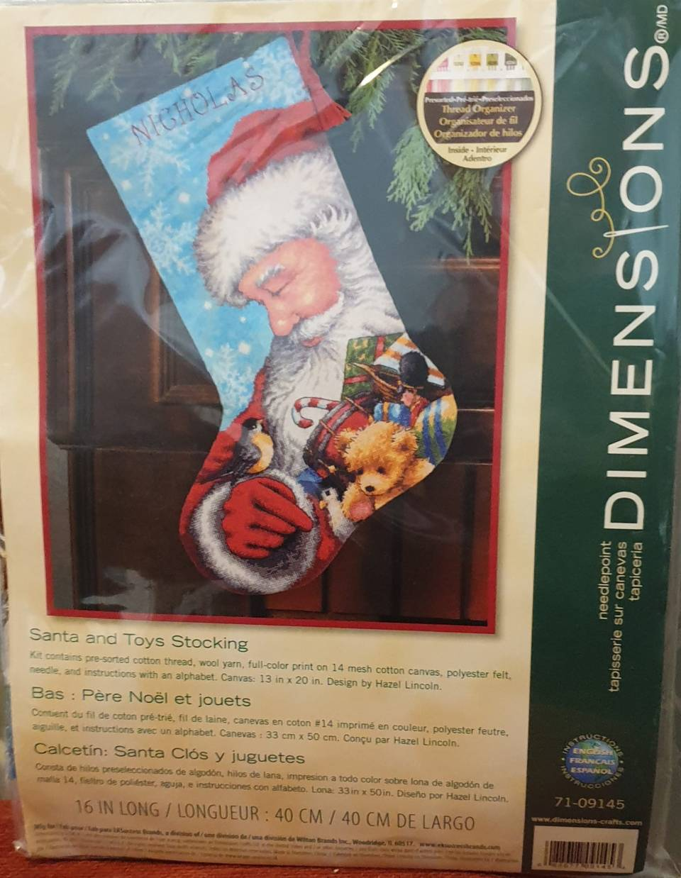 Dimensions Santa and toys needlepoint kit from Love Crafts