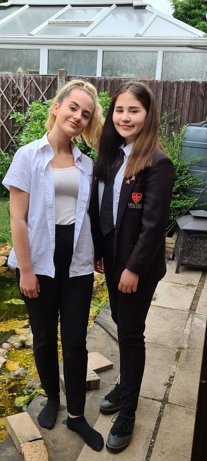 KayCee and Ella - 1 child left at school