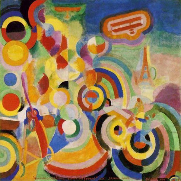6Robert Delaunay, Homage aan Bleriot, 1914 (Kunstmuseum Basel)