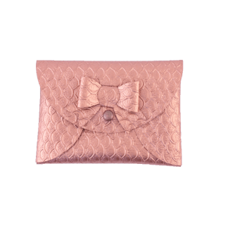 Rose gold mini purse