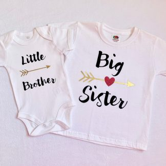big sister little brother matching sibling clothing