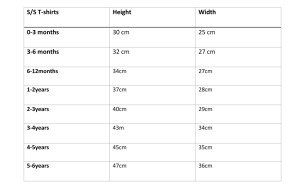 size guides for clothing