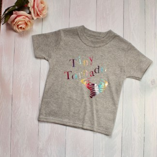 tiny tornado grey children's t-shirt