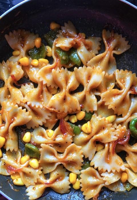 vegan indian style pasta