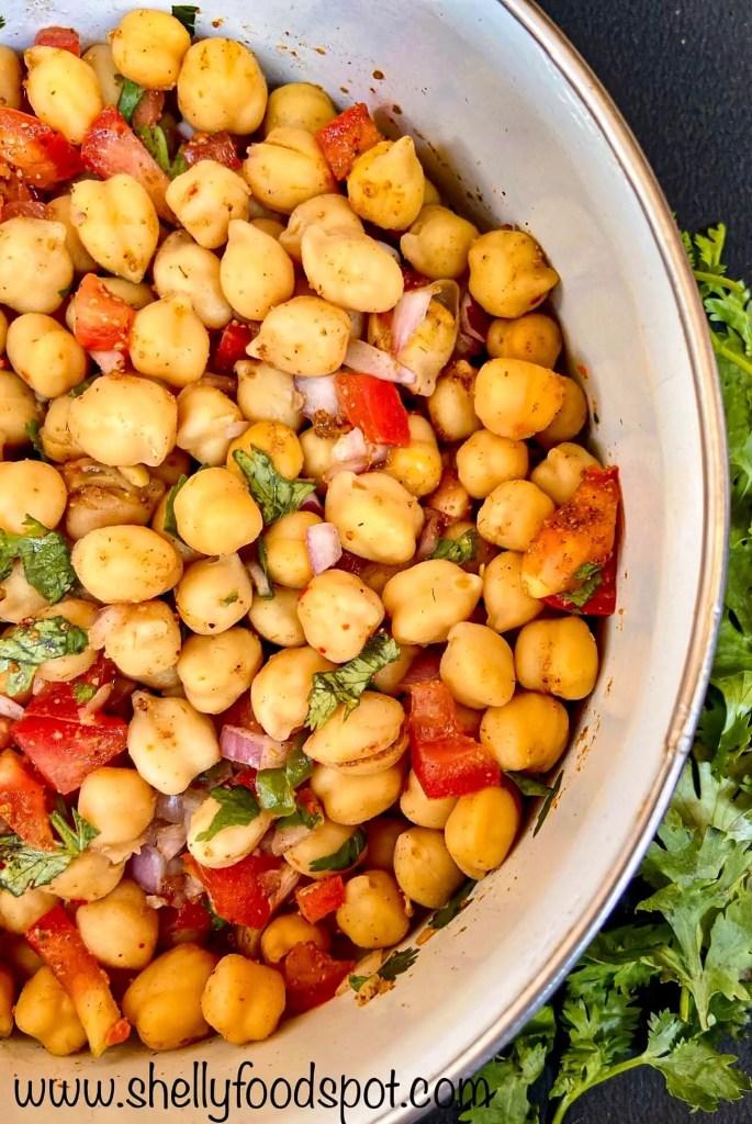 10 minutes vegan chickpea salad recipe