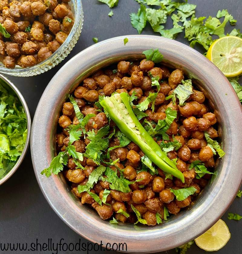 Dry chane recipe without onion and garlic