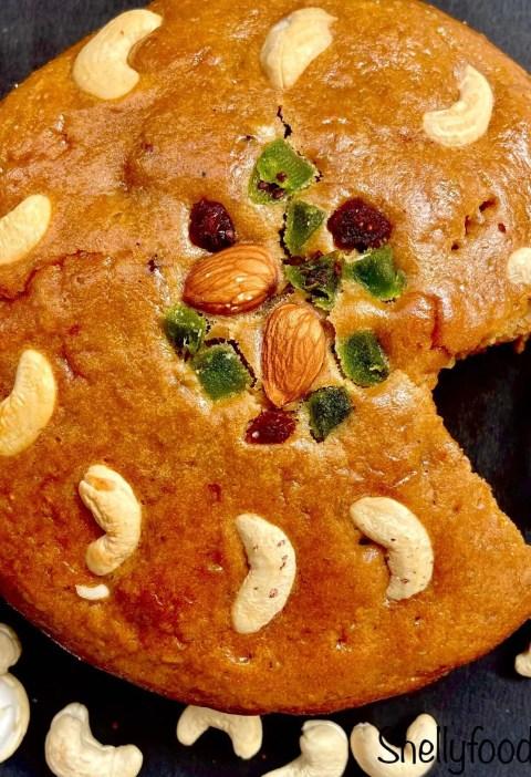 How to make eggless fruit cake