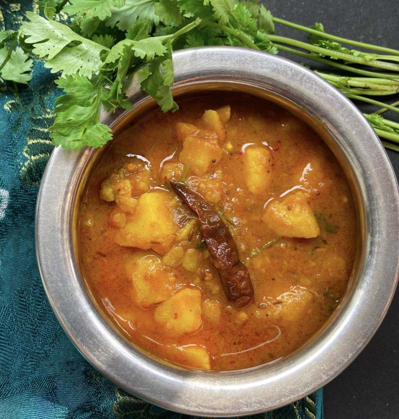 Potato curry without onion and garlic aloo curry 3
