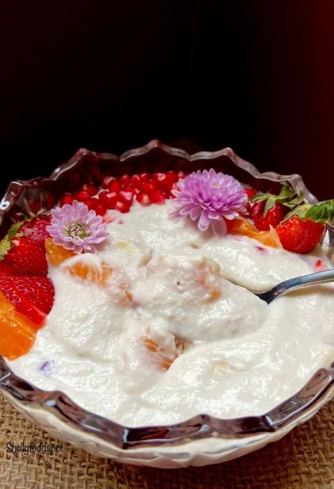 How to make fruit cream|fruit cream with malai 2