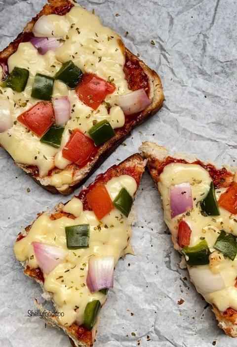 Cheese burst bread pizza|Cheese bread pizza|Bread pizza on tawa
