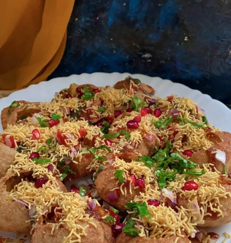 How to make sev puri|sev puri chaat recipe 3