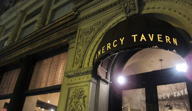 Gramercy Tavern's awesome facade in a landmark building