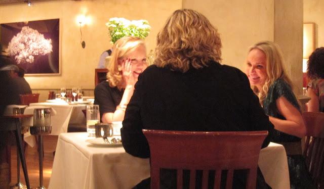 Trying to be slick and taking stalker pics of Kristin Chenoweth enjoying dinner