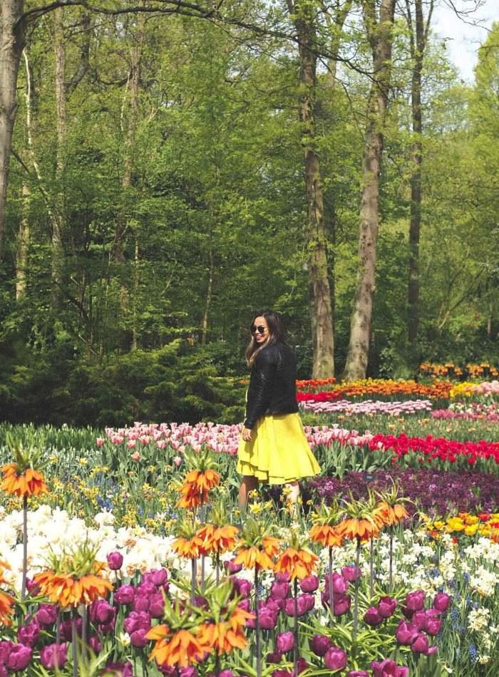 Walking through Keukenhof Tulip Gardens