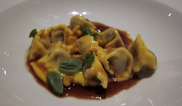 Agnolotti -Braised Veal, Charred Corn, and Veal Jus