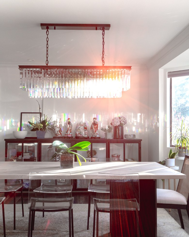 Modern Asian Eclectic Dining Room