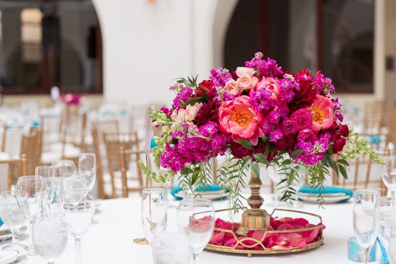 magenta bright pink peony wedding flowers