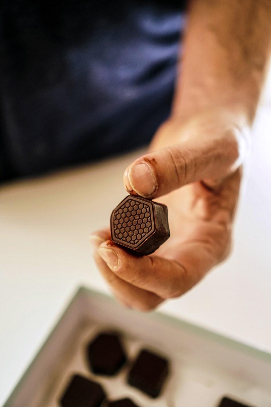 salted dark chocolate & tahini truffles
