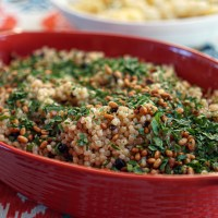 Toasted Israeli Couscous With Pine Nuts, Currents & Parsley