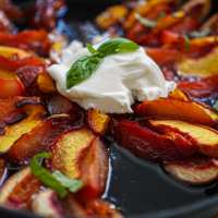 Baked Nectarines, Peaches & Plums