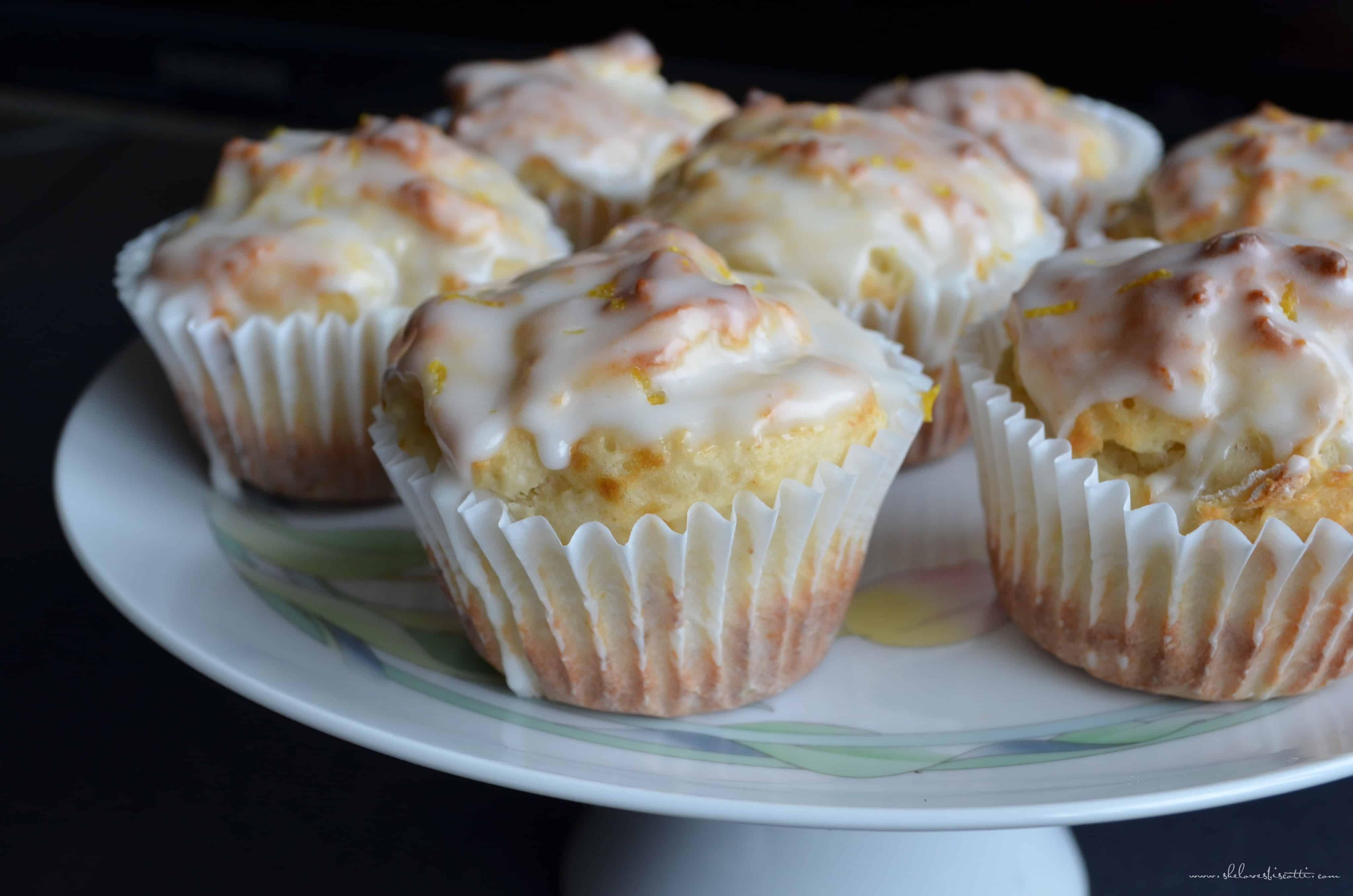 Lemony Greek Yogurt Muffins