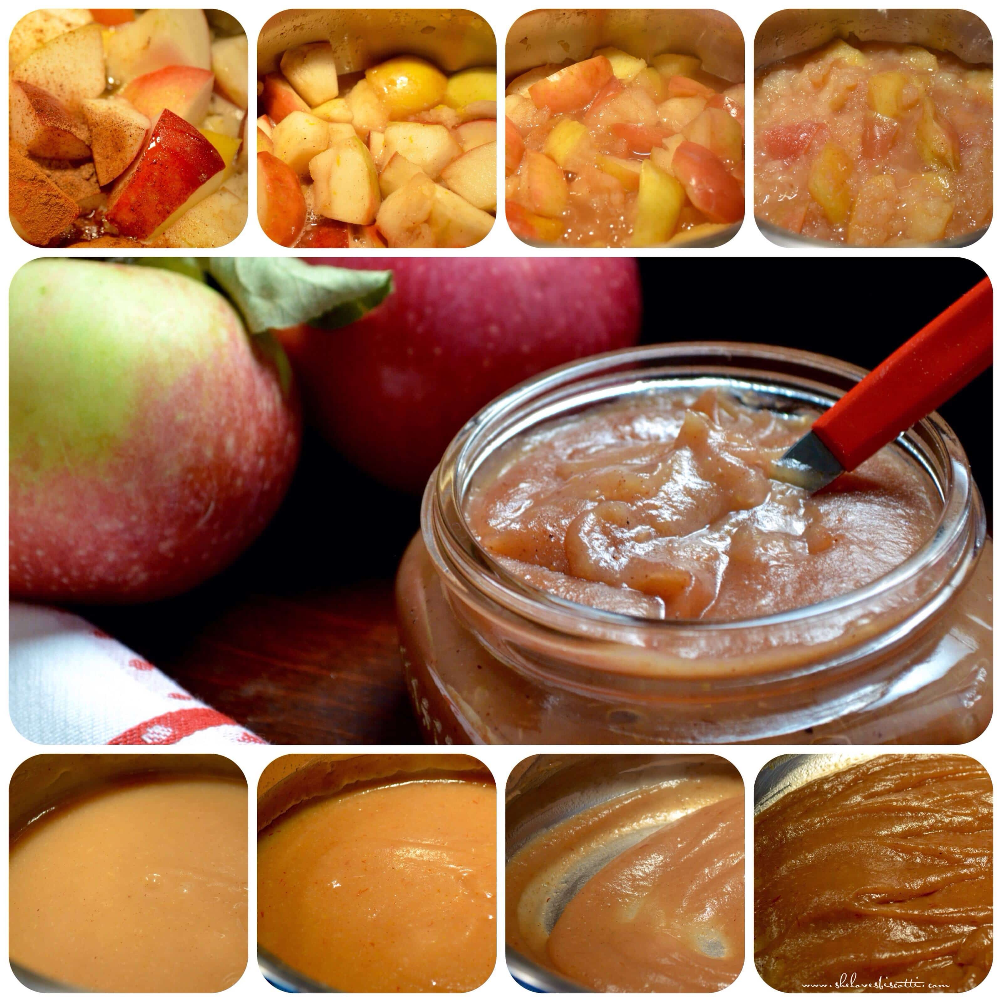 Notice how the apple butter gets darker in color? What is happening is ...