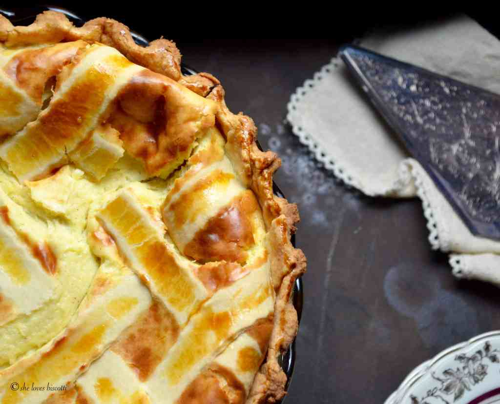 Lattice Topped Ricotta Easter Pie