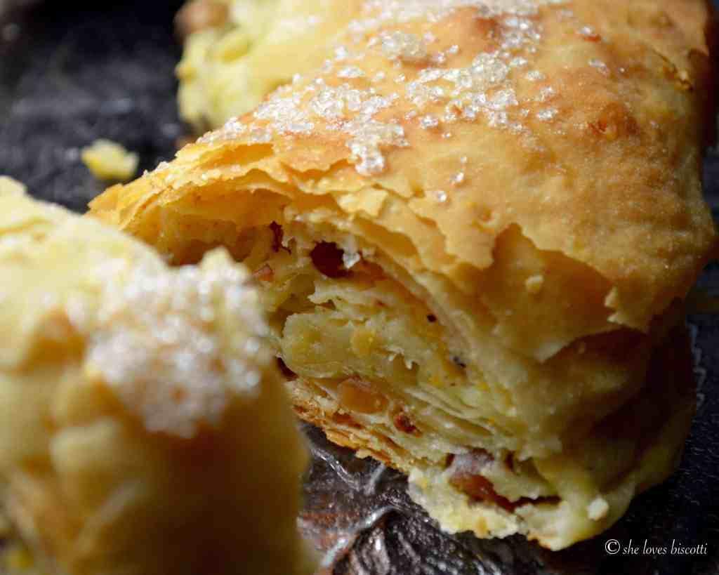 Simple Italian Ricotta Cheese Strudel