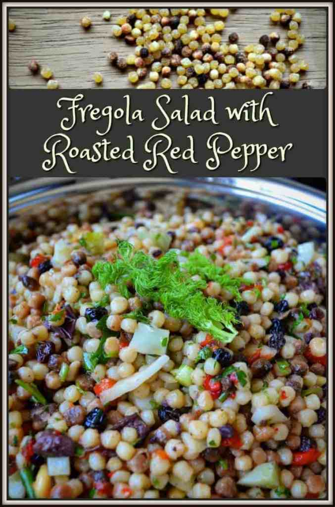 Fregola Salad with Roasted Red Pepper