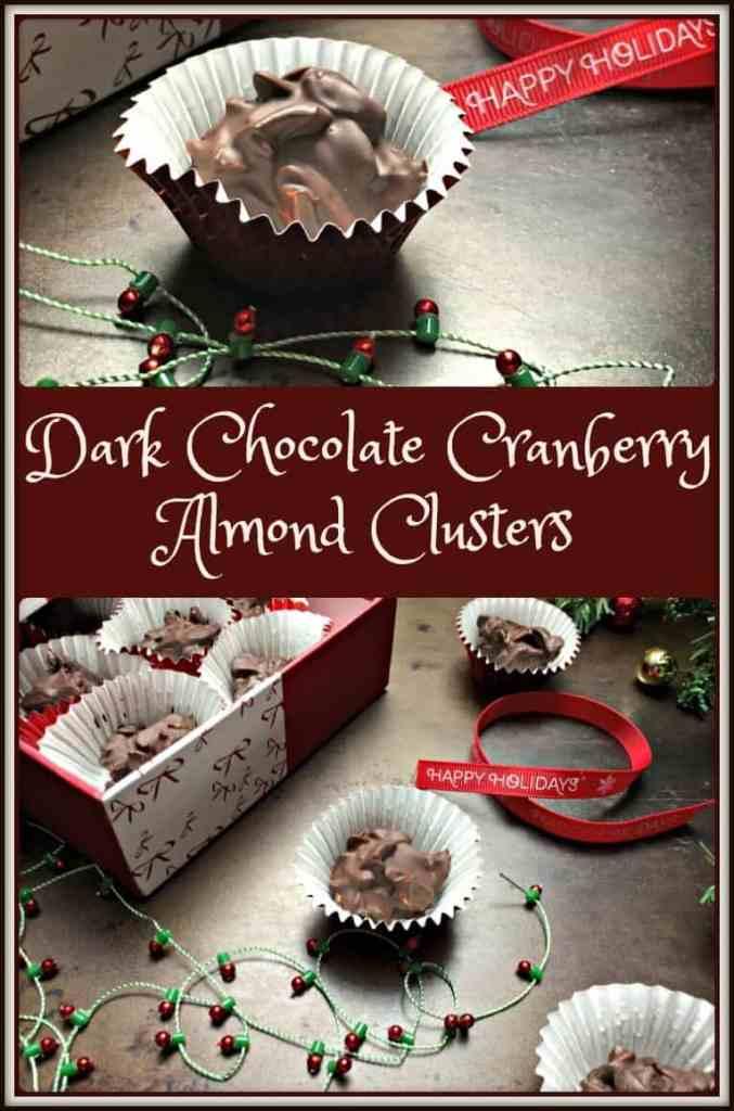 Dark Chocolate Cranberry Almond Clusters