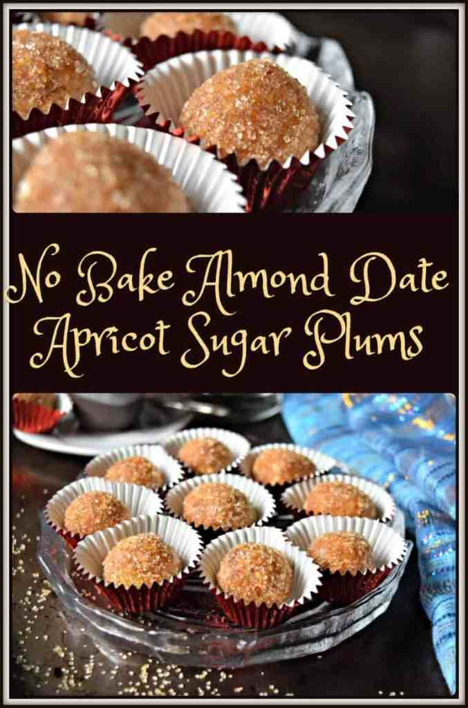 No Bake Almond Date Apricot Sugar Plums